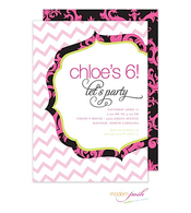 Mod Chevron Invitation