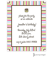Multistripes Pink & Chocolate Invitation