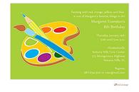 Paint Palette Invitation