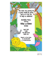 Peekaboo Zoo Invitation