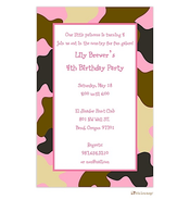 Pink Camouflage Invitation