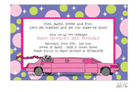 Pink Limo Invitation