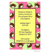 Pink Monkey Invitation
