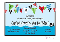 Pirate Banner Invitation