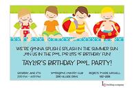 Poolside Kids Invitation