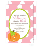 Pumpkin Cutie Purple Invitation
