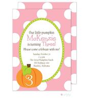 Pumpkin Cutie Purple Invitation