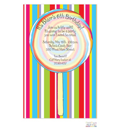 Rainbow Swirl Invitation