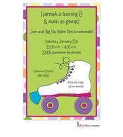 Girl's Rollerskates Invitation