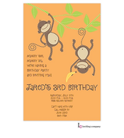 Stitched Monkeys Invitation
