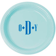 "Personalized 7"" Round Plastic Plates"