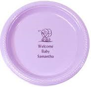 "Personalized 10.25"" Round Plastic Plates"