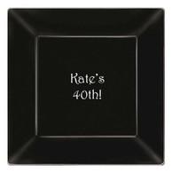 Personalized 9.25  Square Plastic Plates  sc 1 st  Party Cat & Personalized Plates u0026 Platters