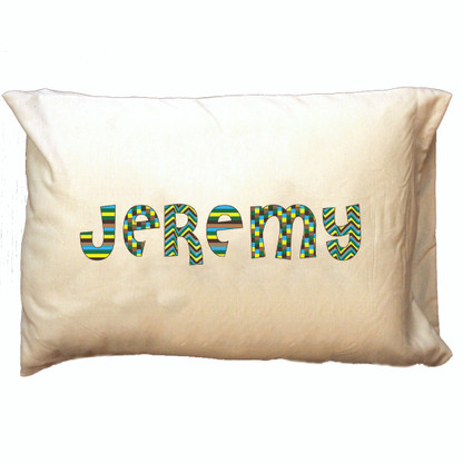 Personalized Pillowcase - Blue Patterns