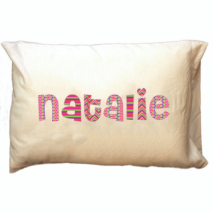 Personalized Pillowcase - Pink Patterns