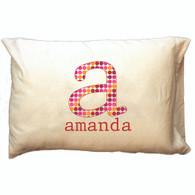 Personalized Pillowcase- Dot Pattern Initial