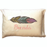 Personalized Pillowcase - Feather