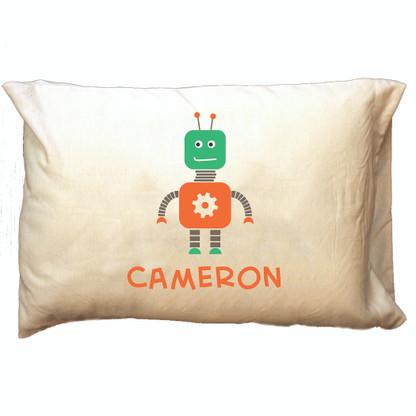 Personalized Pillowcase - Robot Boy