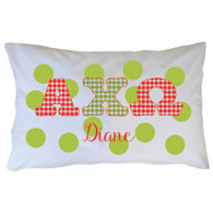 Personalized Greek Pillowcase - Alpha Chi Omega