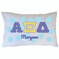 Personalized Greek Pillowcase - Alpha Xi Delta