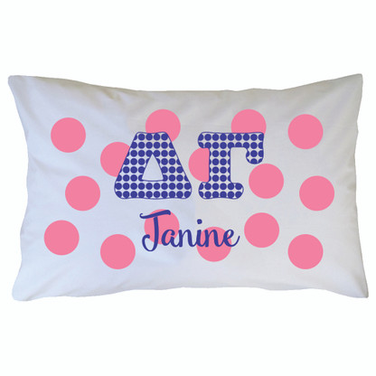 Personalized Greek Pillowcase - Delta Gamma