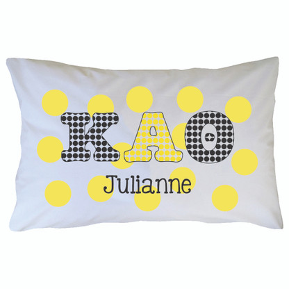 Personalized Greek Pillowcase - Kappa Alpha Theta
