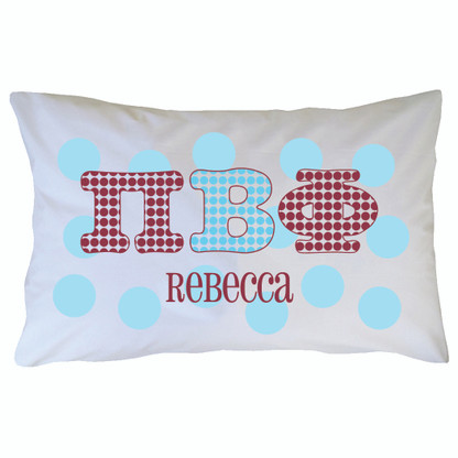 Personalized Greek Pillowcase - Pi Beta Phi
