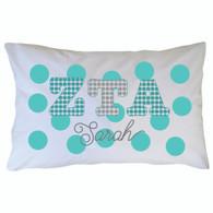 Personalized Greek Pillowcase - Zeta Tau Alpha