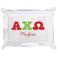Personalized Greek Lucite Small Tray - Alpha Chi Omega