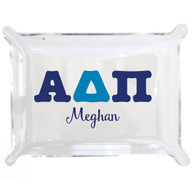 Personalized Greek Lucite Small Tray - Alpha Delta Pi