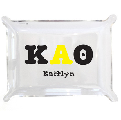 Personalized Greek Lucite Small Tray - Kappa Alpha Theta