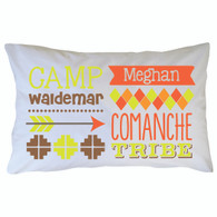 Personalized Camp Waldemar Pillowcase - Comanche
