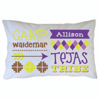 Personalized Camp Waldemar Pillowcase - Tejas