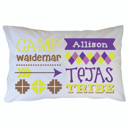 Personalized Camp Waldemar Pillowcase - Tejas