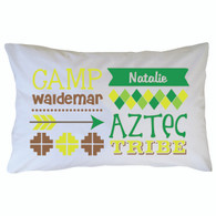 Personanlized Camp Waldemar Pillowcase - Aztec