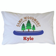 Personalized Camp Woodmont Pillowcase - Blue