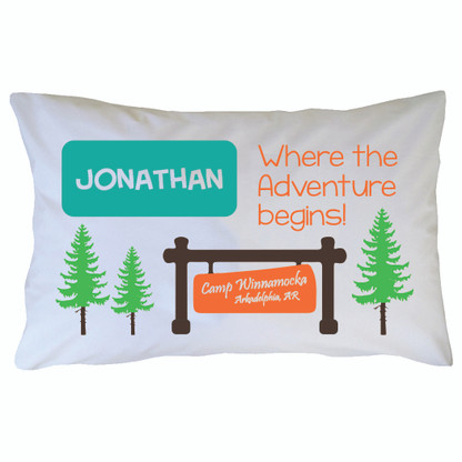 Personalized Camp Winnamocka Pillowcase