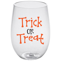 Trick Or Treat Lucite Stemless Wine Glass