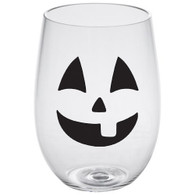 Jack O' Lantern Lucite Stemless Wine Glass