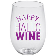 HalloWine Lucite Stemless Wine Glass