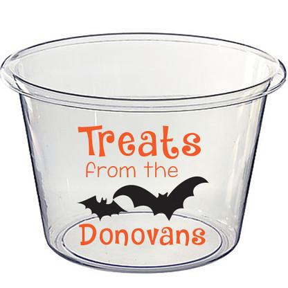 Lucite Halloween Candy Bucket - Treats