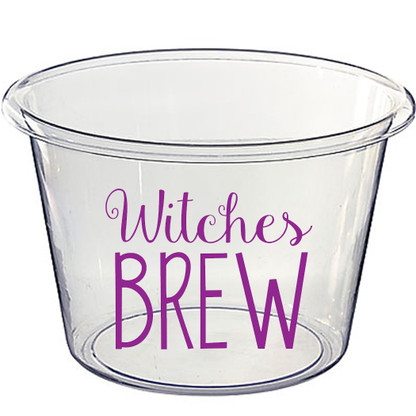 Personalized Lucite Halloween Beverage Bucket - Witches Brew