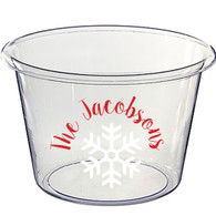 Personalized Lucite Christmas Beverage Bucket - Snowflake, Sweet Pea Font
