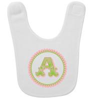 Personalized Initial Scallop Baby Bib