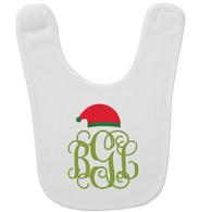 Personalized Santa Monogram Baby Bib - Vine