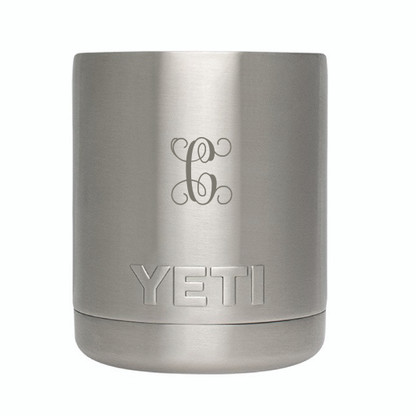 Yeti Rambler Lowball - Engraved - Non-Interlocking Initial