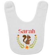 Personalized Woodland Squirrel Baby Bib