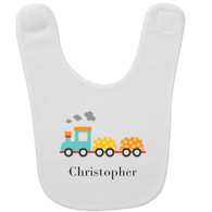 Personalized Train Baby Bib