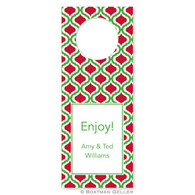 Personalized Kate Kelly & Red Holiday Wine Tag