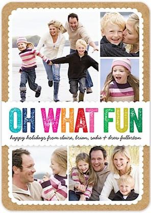Colorful Fun Flat Holiday Digital Photo Card